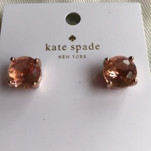 kate spade Jewelry - Kate Spade light peach stud earrings